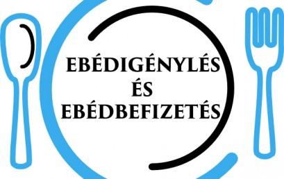 DECEMBERI EBÉDIGÉNYLÉS TANULÓKNAK